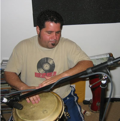 Percussion player Michito Sanchez on the Gratitude album by Soren Reiff