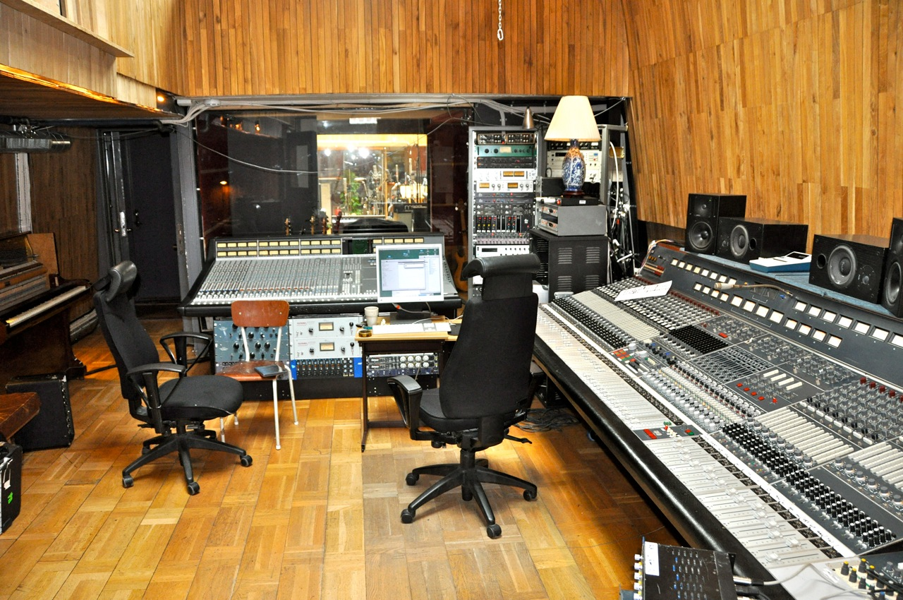 The control room in Svenska Grammofon Studion, Gothenburg, Sweden