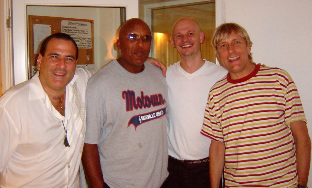 David Garfield, Steve Ferrone, Soren Reiff & Will Lee in the studio recording Funky Mama, for the Miss you album