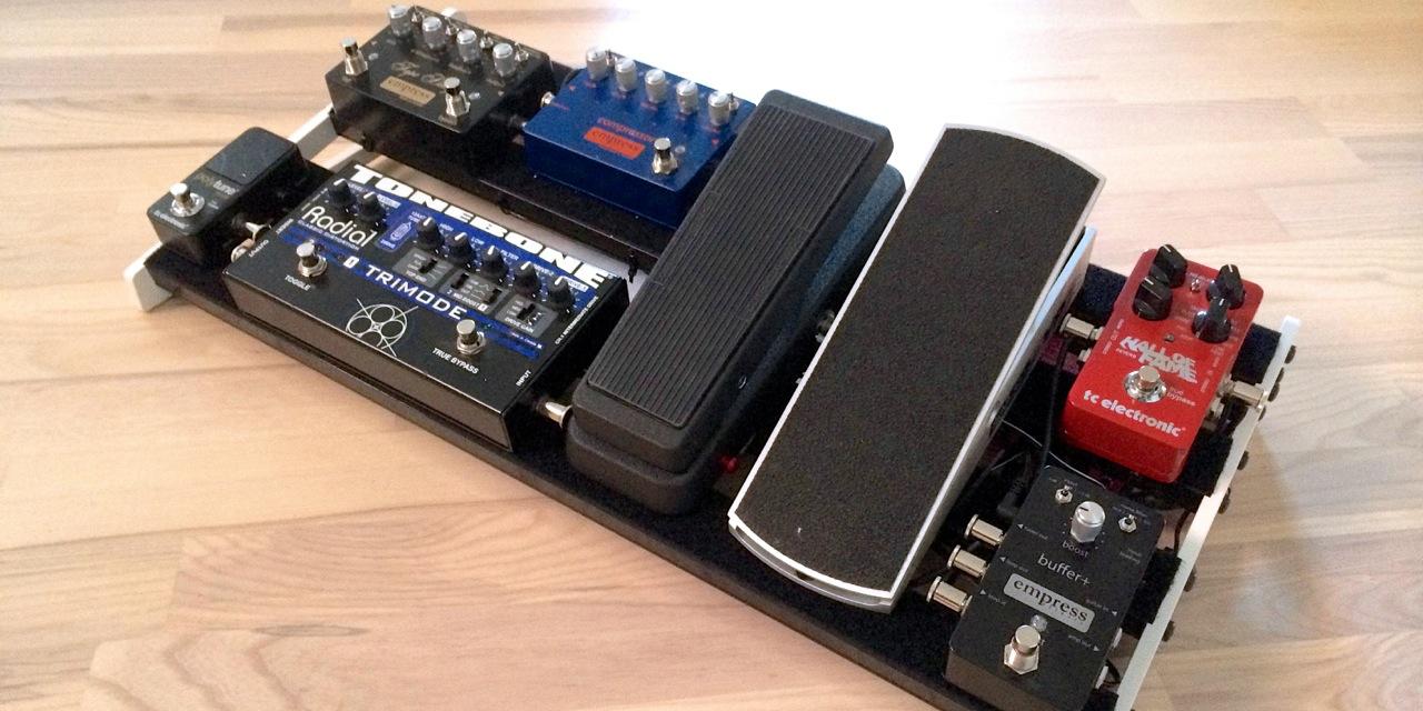 Soren Reiff - traveling board - new pedalboard