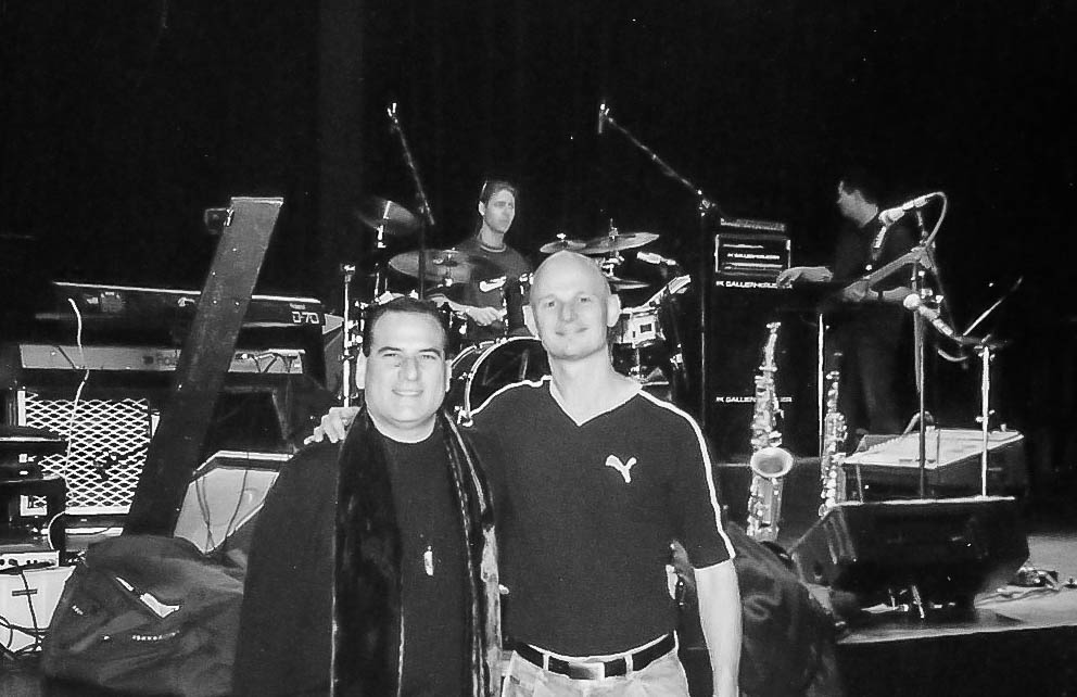 David Garfield & Soren Reiff during sound check with Henrik Engqvist and bass player Kim in the back